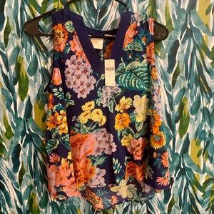 NWT floral Anthropologie tank top